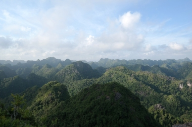 The view from the top of a mountain on Cat Ba island