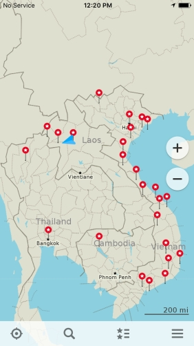 Places visited in Southeast Asia